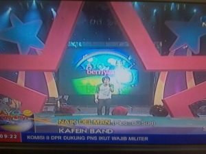 Kafein Band at Ayo Bernyanyi TVRI