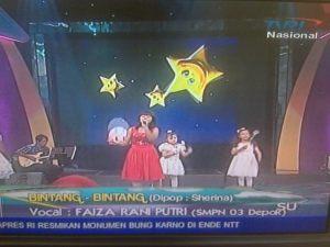 Faiza Rani Putri at Ayo Bernyanyi TVRI Sekolah SMPN 3 Depok